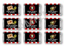 Pirate Mini Candy Bar Wrappers - Birthday Favors - Set of 84