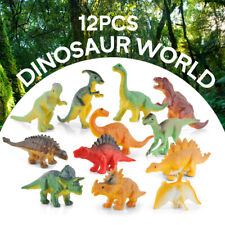 Realistic Dinosaur Toys Assorted Lot Pack of 12 Jurassic Park Figures Plastic