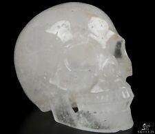 "5.0"" QUARTZ ROCK CRYSTAL Carved Crystal Skull, Realistic, Crystal Healing"