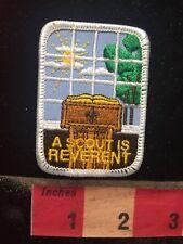 BSA Patch Boy Scouts A SCOUT IS REVERENT - Pulpit / Lectern 81D3