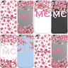 PERSONALISED WITH NAME INITIALS FLORAL BLOSSOM PHONE CASE COVER FOR APPLE IPHONE