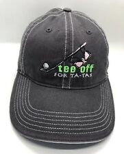 Tee Off For Ta-Tas Golf Tournament Cap Hat Adjustable Adult 100% Cotton
