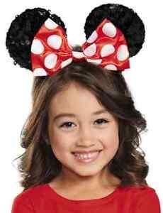 Minnie Mouse Ear Headband Fancy Dress Halloween Child Costume Accessory 2 COLORS