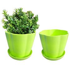New Hot Plastic Flower Pot Hanging Balcony Garden Plant Planter Home Decor Green
