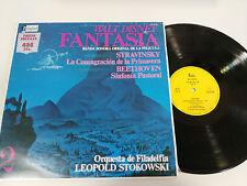 "FANTASIA WALT DISNEY SOUNDTRACK LP VINYL VINILO 12"" 1957-1983 VG/VG DISNEYLAND"