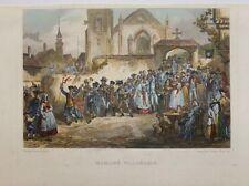 """gravure sur acier, ROUARGUE frères """"Mariage villageois"""""""
