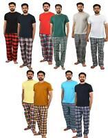 Men's Pyjama Set Suit Pyjamas Loungewear Sleep Two Piece Short Sleeve Night suit