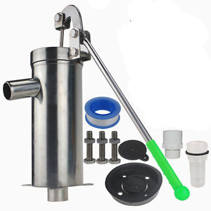 Manual Shredding Machine Water Jet Pump Well Hand Shake Suction Stainless Steel