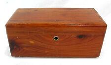 "Lane Cedar Jewelry Box Hope Chest Hinged 9"" Long 4.5"" Wide 4"" tall Brown Wood"