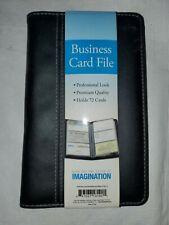 Blue Sky Imagination Business Card File Holds 72 Cards