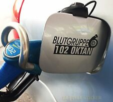 Grupo sanguíneo octanaje pegatinas I Love turbo turboboost sticker 5 cilindro 4 cilindro