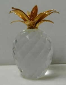 "SWAROVSKI CRYSTAL 7507 LARGE 4 1/8"" PINEAPPLE PAPERWEIGHT FIGURINE"