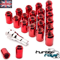 20x RED STEEL WHEEL TUNER NUTS M12x1.5 fit HONDA MAZDA TOYOTA MITSUBISHI FORD