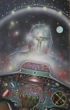 Science Fiction Illustration COVER  Art by & signed John Rheaume  17 X 27  VFNM