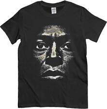 T-Shirt Musica Jazz Miles, maglietta Jazz nera, immagine del viso