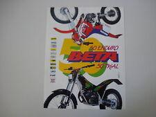 advertising Pubblicità 1991 MOTO BETA 50 TR35 TR 35 TRIAL