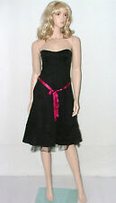 BNWT Sexy Black Editions Evening Party Dress Size 12 Ladies Prom Frock Strapless