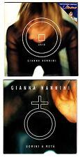 GIANNA NANNINI lotto 2 cd promo UOMINI A META' - ARIA