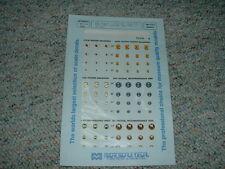 Microscale decals 1/72 72-376 Usaf Badges 334 335 336 10th Trw 26th Trw Mmm