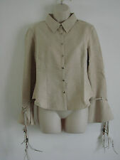 New Ladies Womens Long Sleeve Button Up Top Casual  Shirt UK Size 14