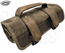 Burly Brand Voyager Tool Roll Wet Waxed Canvas Motorcycle Tool Roll B15-1030