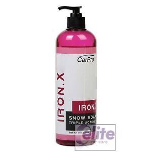 CarPro IronX Snow Soap Advanced Fallout Remover Shampoo and Snow Foam 500ml