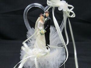 Wilton Wedding Cake Topper Heart Vintage Bride and Groom 1983