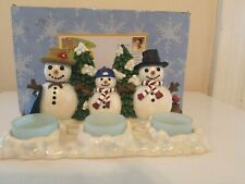 Meet The Flakes The Coolest Snofamily Cluster On Ice Snowman Candle Holder