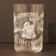 Foss Schneider Brewing Etched Glass - Cincinnati Oh