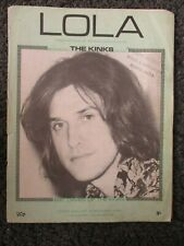 The Kinks, Lola, Original Vintage Sheet Music 1970