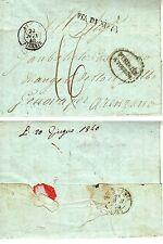 ALGERIE Marque Postale Via di Nizza - Purifiée à Toulon