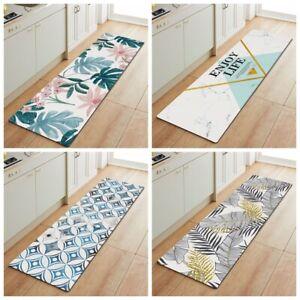 Non-Slip Waterproof Kitchen Door Mat Home Floor Rug Carpet Anti-Oil Easy Clean W