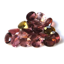 Natural Multicolor Tourmaline 5X4 MM Faceted Gemstone Oval 20 Pieces Lot
