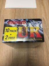 Maxell 12 Pack UR 90 min, Blank Audio Cassette Tapes new sealed