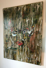 Manuel Noguera Original Hand Signed Oil Painting Collage