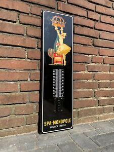 Thermometer Emailleschild Sekt Wein Belgien Vintage Shabby Chic