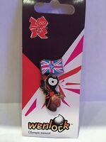 London Olympics 2012 Wenlock with Union Jack Flag Metal Lapel Pin