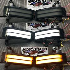 99-18 Smoked  silverado sierra GM Tow mirrors switchback Marker Light Inserts