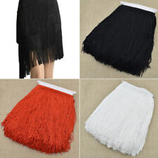 10 Yards Polyester Long Tassel Fringe Trim Ribbon DIY Sewing Garment Accessories