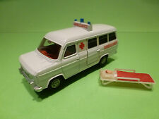 DINKY TOYS FORD TRANSIT VAN - AMBULANCE  - WHITE 1:36? - VERY GOOD