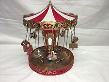 RARE Mr Christmas World's Fair Double Swing Carousel Action/Lights Music Box