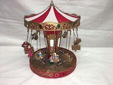 RARE Mr Christmas World's Fair Double Swing Carousel Action/Lights Music Box