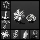 Men's Lapel Pin Brooch Emblem Badge Novelty Wedding Suit Shirt Silver Golden