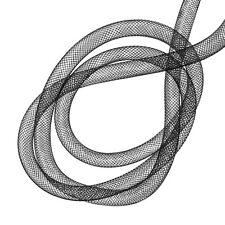 Nylon Hollow Mesh Tubing for Crafts & Beads 10mm Black 3 metre (F68)