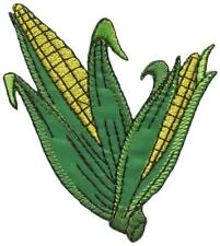 Corn on the cob maize veggies vegan embroidered applique iron-on patch S-1450