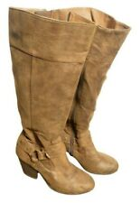 A2 AEROSOLES Heelrest Womens Brown Suede Calf Boots Size 5 M