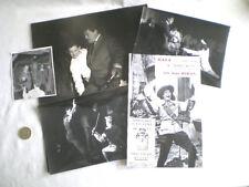 JEAN MARAIS 4 PHOTOS ORIGINALES + PROGRAMME LE MASQUE DE FER RENNES 1962