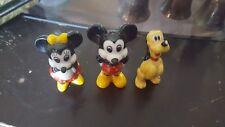 VTG Disney Lot of 3 Porcelain Figurines Mickey, Minnie, Pluto