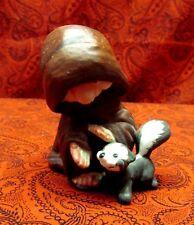 Vintage Happy Little Padre George Good Monk Petting Skunk 'Keep Friends Apart'