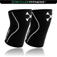 Reyllen™ Rehband 7mm PAIR of Knee Sleeves Crossfit Powerlifting Strongman
